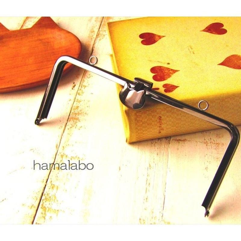 3月18日販売開始!【HA-1587】オコシ式口金18cm/角型(ネコ×ブラック)カン付き