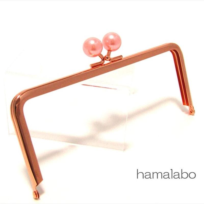 <廃盤予定>【HA-1435】18cm/角型(ピンクパール玉×ローズゴールド-ピンクゴールド)