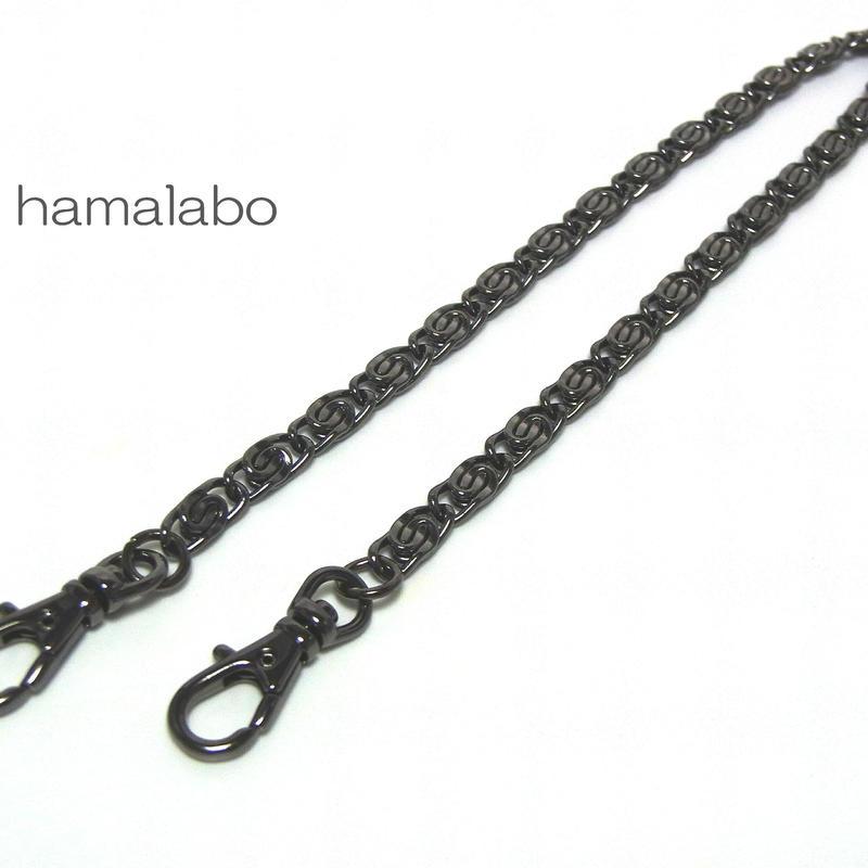 【HA-521】持ち手用デザインチェーン40cm(ブラック)