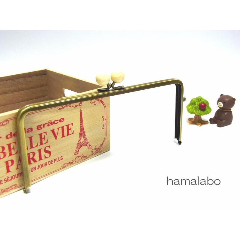 【HA-1299】22cm/角型(白玉×アンティークゴールド)