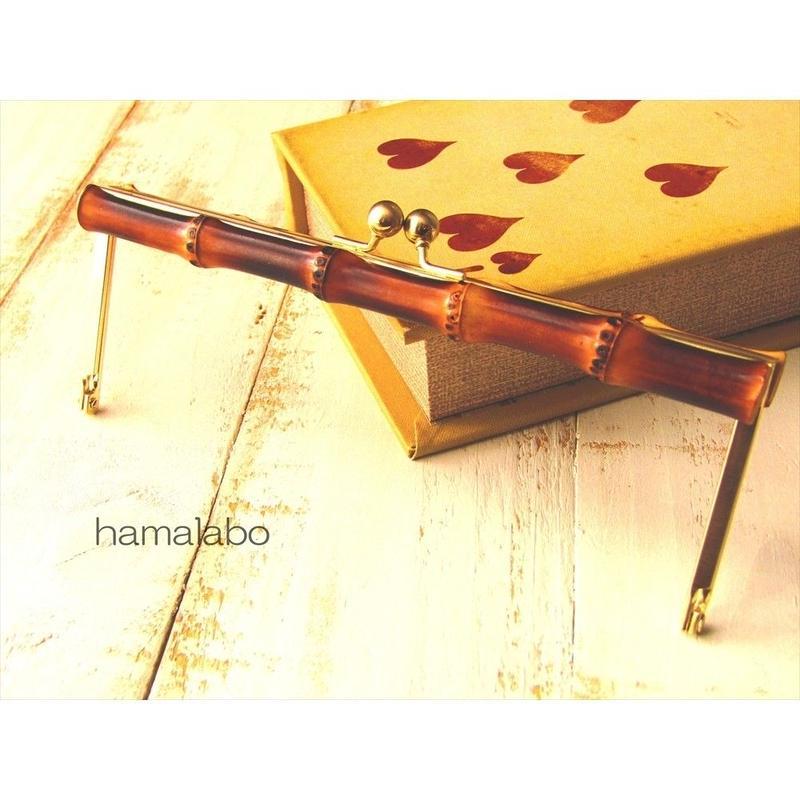 1月17日販売開始!【HA-1550】19cm竹の浮き足口金/(ゴールドサティーナ)