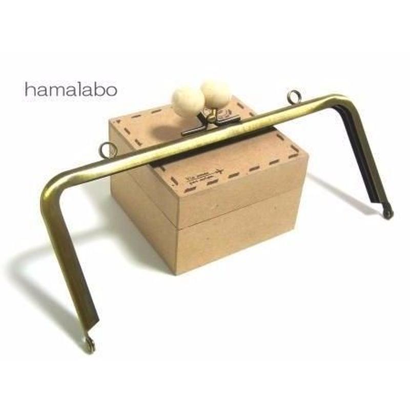【HA-1212】18cm/角型(白玉×アンティークゴールド)・カン付き