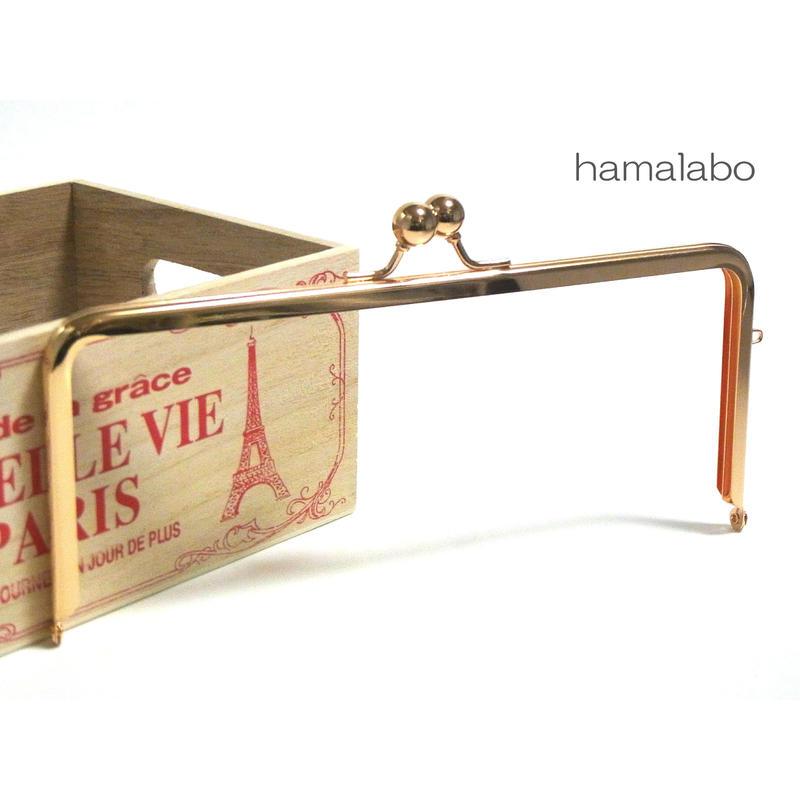 【HA-1296】22cm/角型(アメ玉×ゴールド)