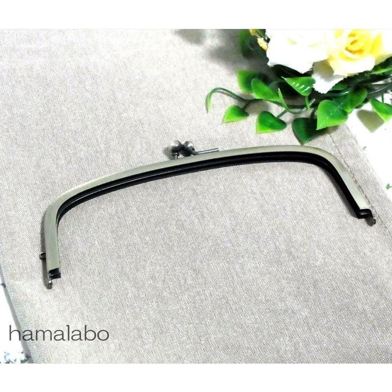 【HA-1494】17cm/くし型の口金/(アンティークゴールド)