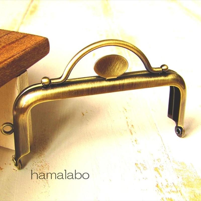 【HA-1526】持ち手付きの押し口金8.5cm(アンティークゴールド)