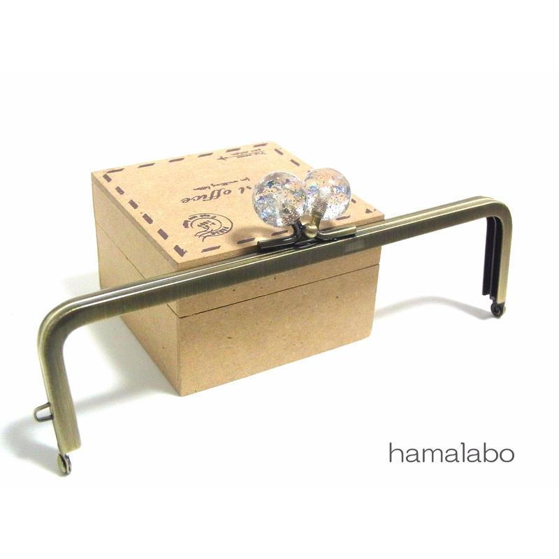 <廃盤予定>売り切り価格!【HA-1247】16.5cm/角型(クリスタルスターラメ)・アンティークゴールド