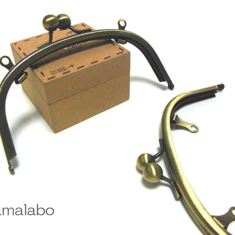 【HA-145】アメ玉口金 15cm/くし型(アンティークゴールド)・兼用カン付き