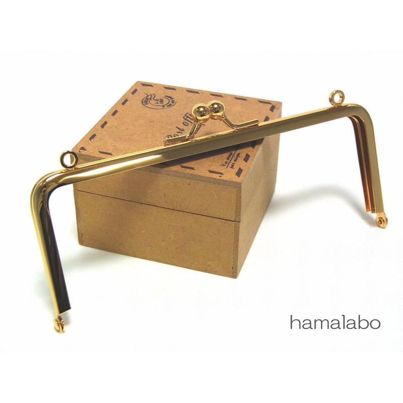 【HA-1352】15cm/角型(ゴールド)・カン付き口金