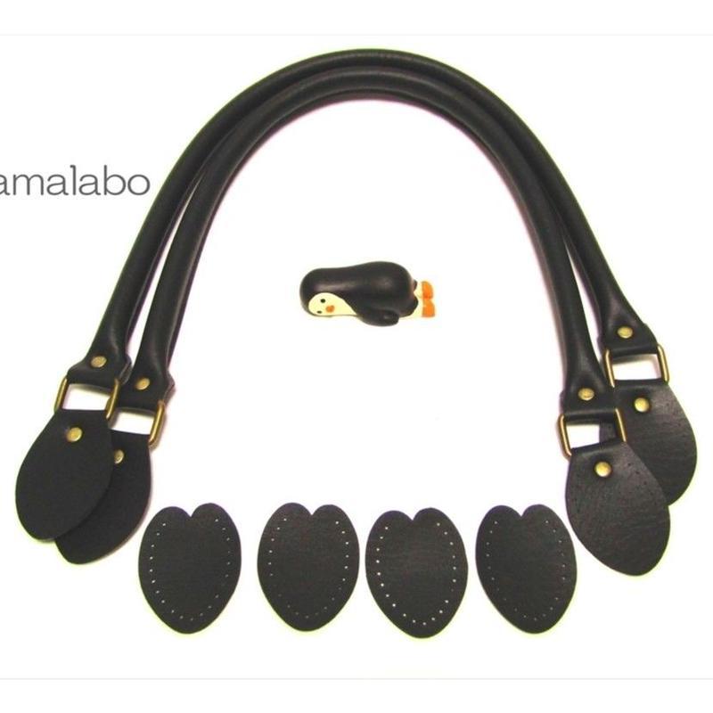 【HA-594】<縫い付けタイプ>手さげ持ち手60cm(黒)-YAK-600