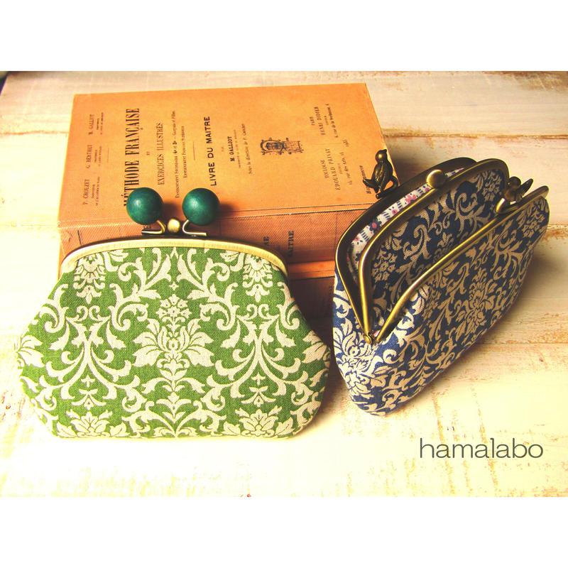 【KT-2026】仕切りがま口の財布(ペッタンコ)の型紙&レシピ【12cm/三枚口用】