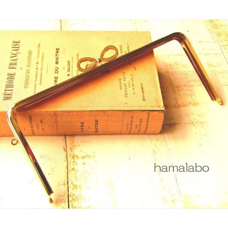 3月18日販売開始!【HA-1551】リボン口金/22cm角型(ゴールド)