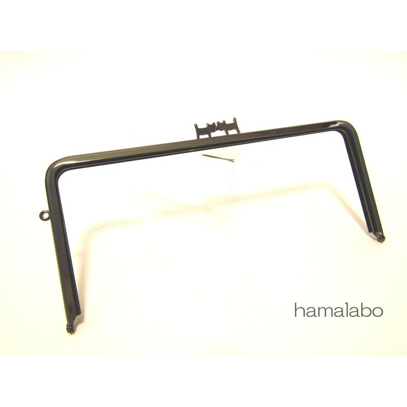 【HA-1319】ペアネコ口金/22cm角型(ブラック)