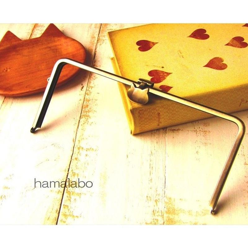 3月18日販売開始!【HA-1590】オコシ式口金22cm/角型(ネコ×アンティークゴールド)