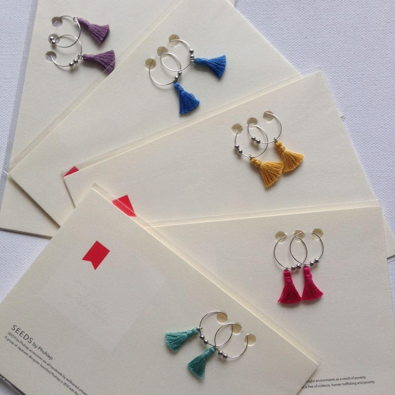 ワンタッセル・イヤリング (5色) / Earring One Tassel(5colors)