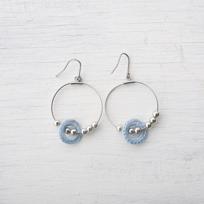 ビーズフープピアス(5色) / Beads Hoop Pierced Earring(5colors)