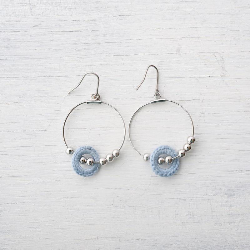 ビーズフープピアス(5色) / Beads Hoop Pierced Earring(5colors)