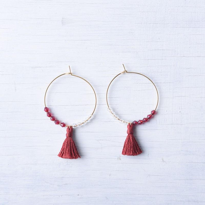 フープタッセルピアス/  Pierced Earring Hoop Tassel