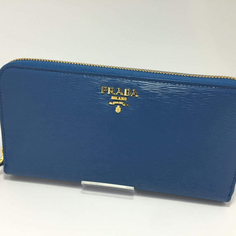 PRADA VITELLO MOVE 青 品番:1M0506 財布