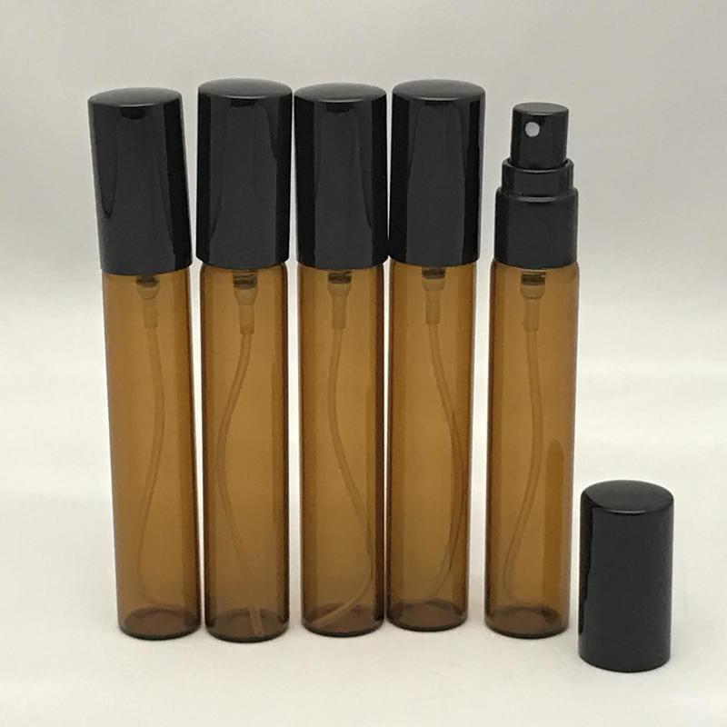 10ml スリムスプレーボトル(ガラス)5本セット