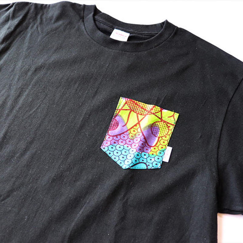Africanpocket Tshirt-L《PSYCHEDELIC》