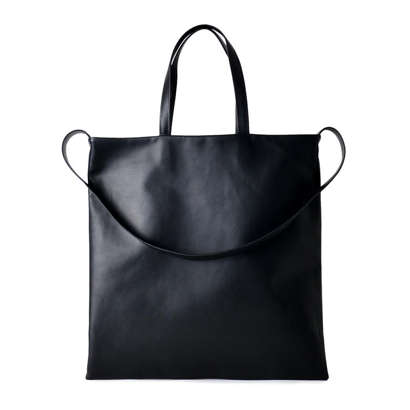 LE33 / COW KIP LEATHER  FLAT TOTE
