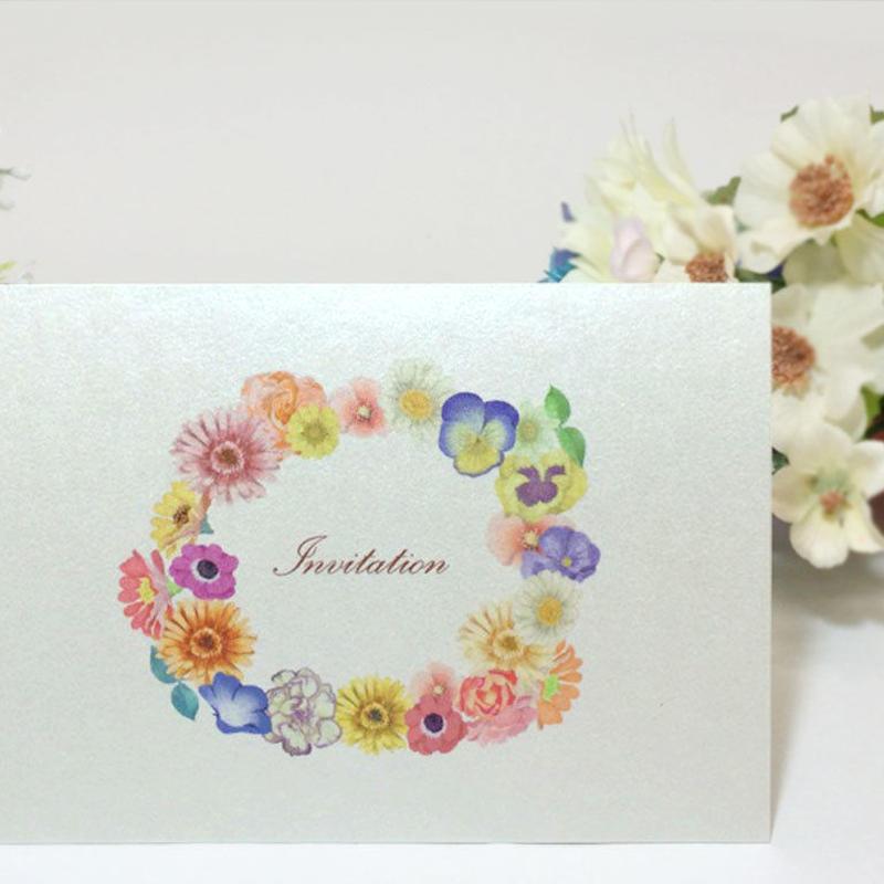 招待状 花-001    10セット入り  宛名印刷有り
