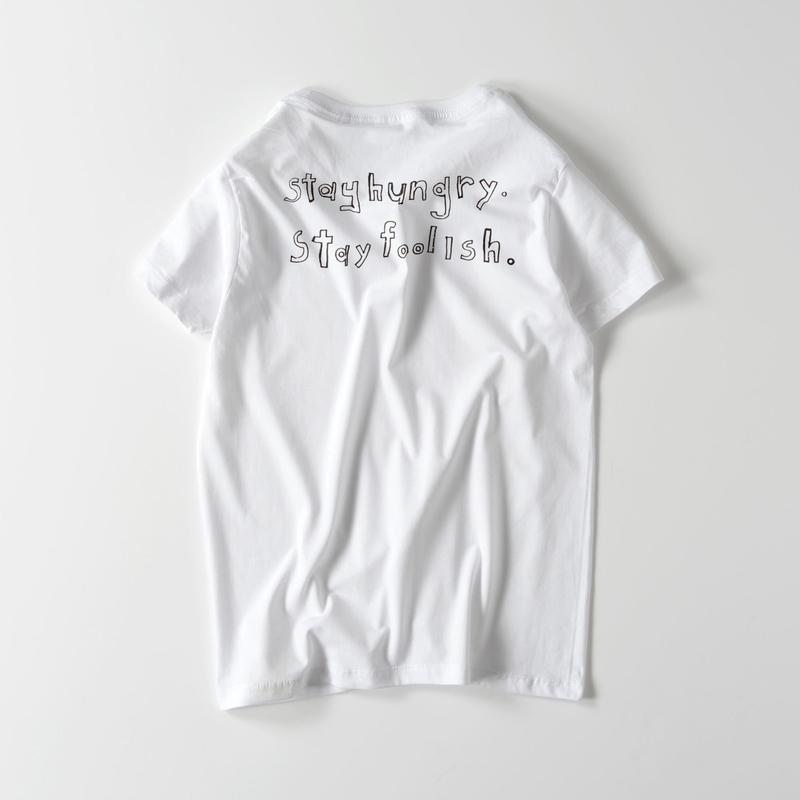 Stay hungry  ライトウェイトTシャツ(レディース ホワイト・グレー・ブラック・オリーブ・ネイビー S/M/L)