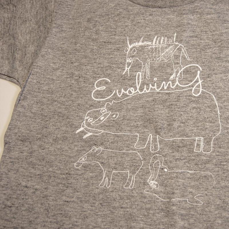 どうぶつ キッズTシャツ(KIDS 130)グレー