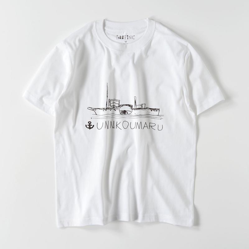 SATSUMA 雲行丸 Tシャツ(ホワイト XS/S/M/L/XL/XXL)