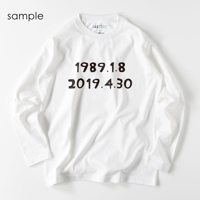 HEY SAY(あの日の平成)ロングスリーブTシャツ (4color S/M/L/XL/XXL)