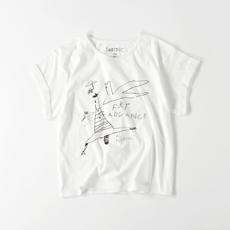 FRY ADVANCE ロールアップ Tシャツ(レディース ホワイト FREE)