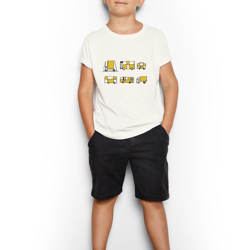 のりもの キッズTシャツ(KIDS 130)アイボリー