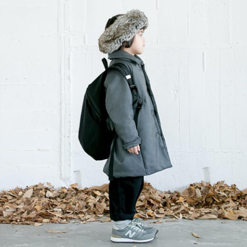 wool like serge  air coat (110) / MOUN TEN.