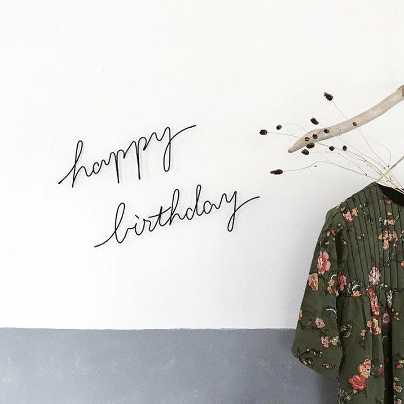 """letter objet """"happy birthday"""" / RUNI"""