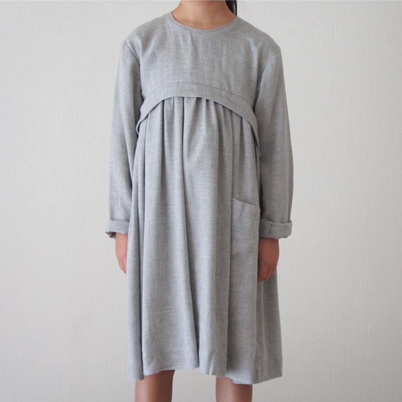 ANA dress + pocket (gray marl) / treehouse