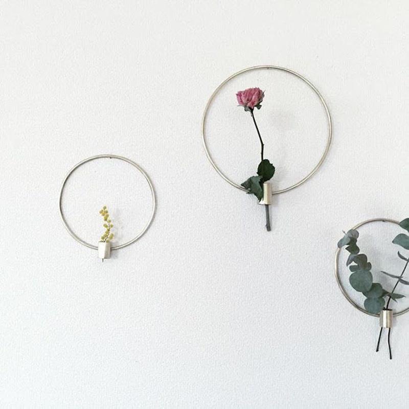 Dried flower vase (round M size) / RUNI