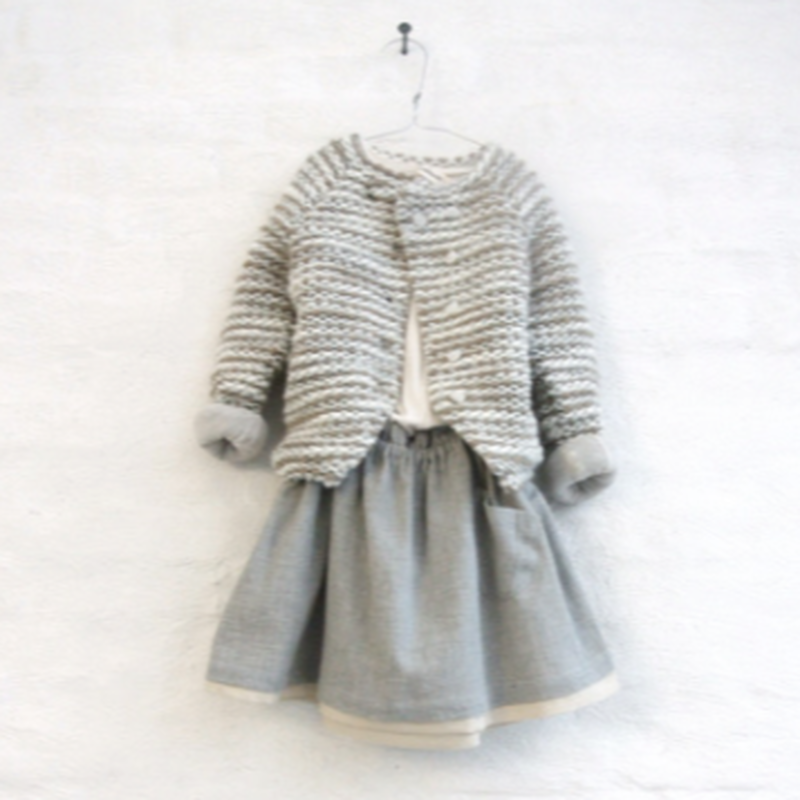 JOA knit jacket (beige mix) / treehouse