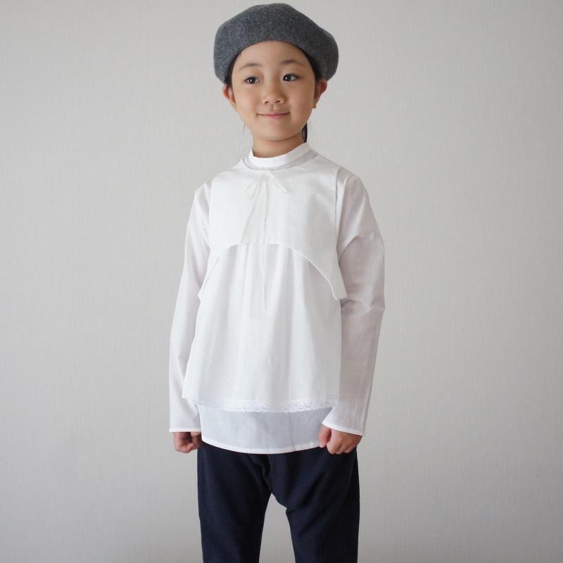 SORA blouse + apron (off white) / treehouse