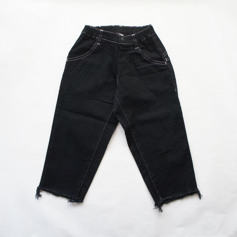 Wide Cropped denim (black/95.110) / MOUN TEN.