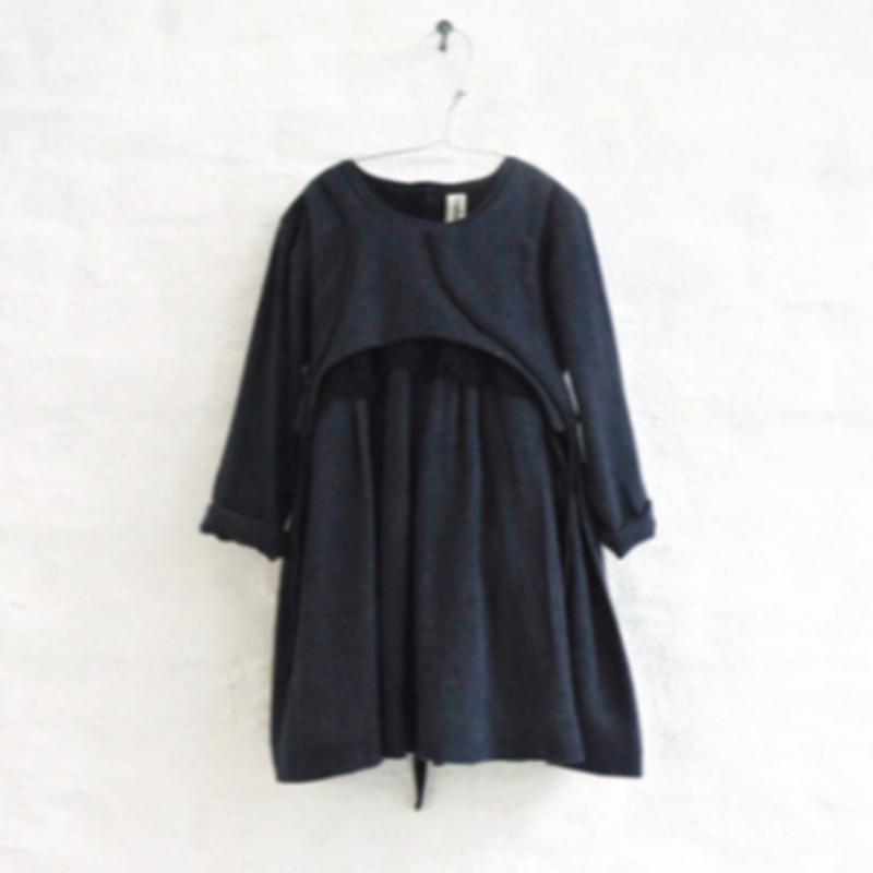 AVA dress + lace (navy marl) / treehouse