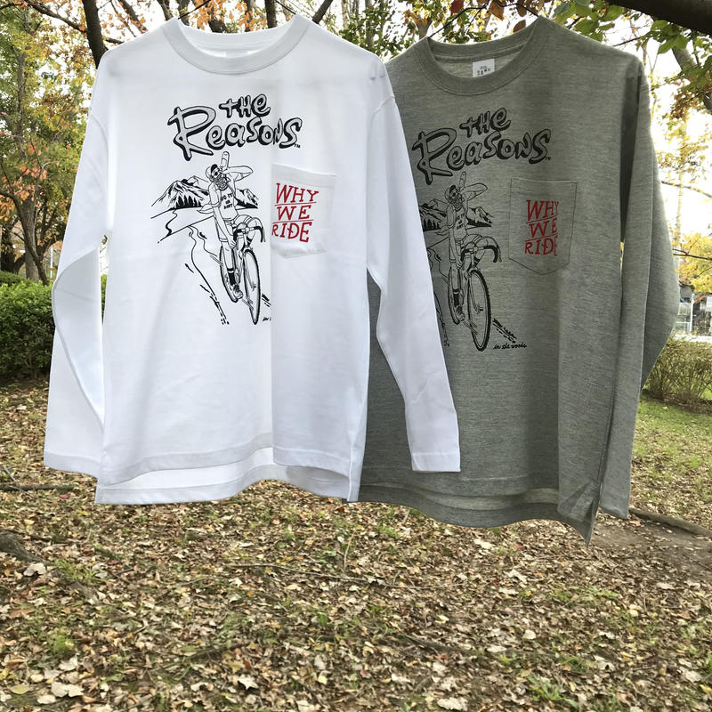 WHY WE RIDE! /ポケット付ロンT
