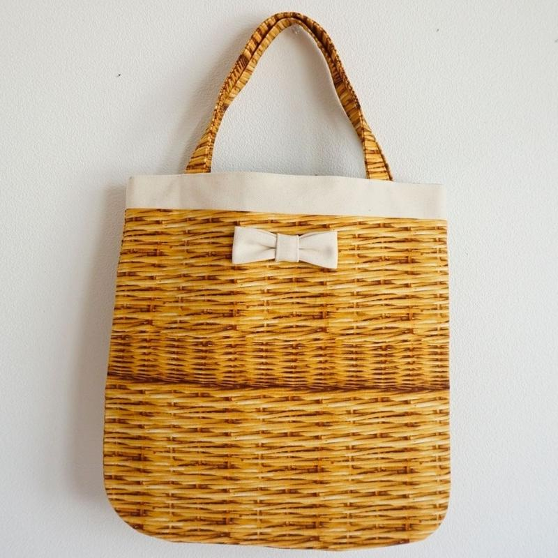 【オンライン限定】medium tote fake basket milk