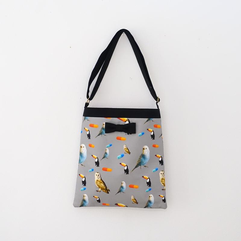 【original textile】skipton chemicalbirds grey