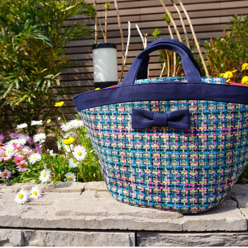 準備中【新作】marche mini summer tweed navy blue