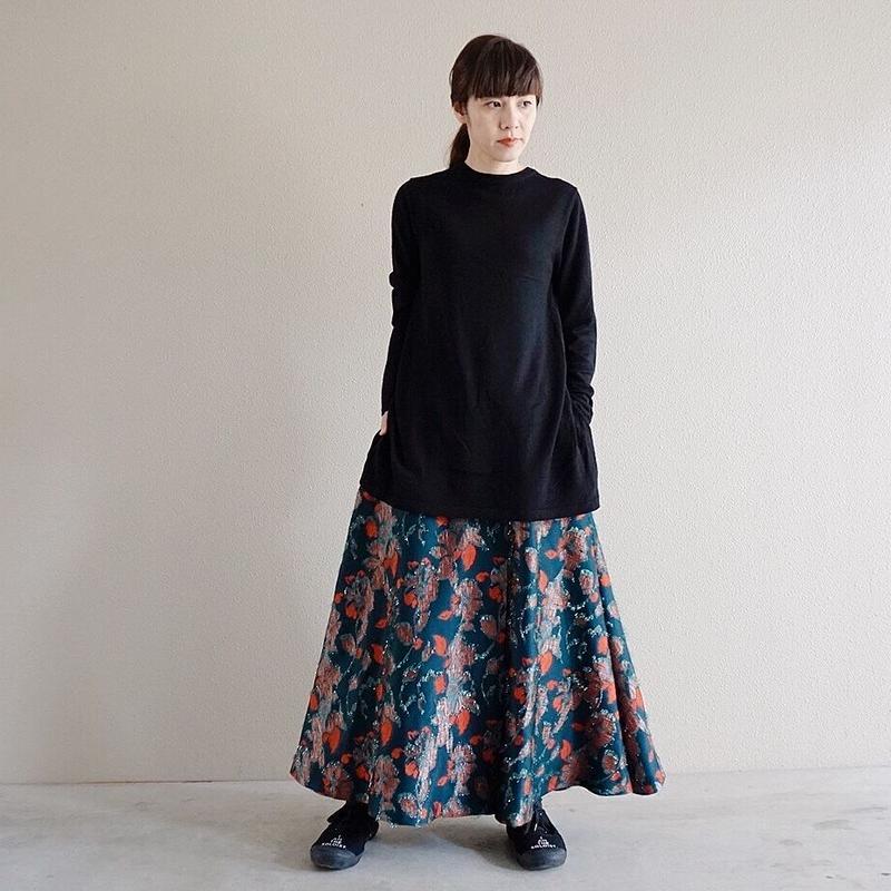 予約終了【先行予約】flower jacquard skirt  (2193601)