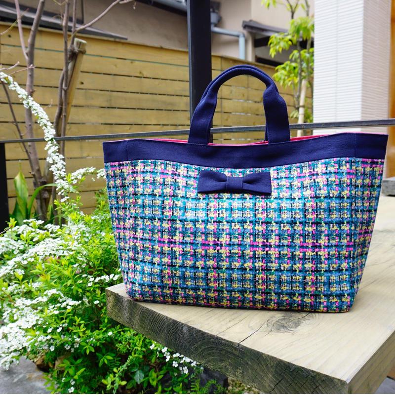 準備中【新作】 town mini summer tweed navy blue