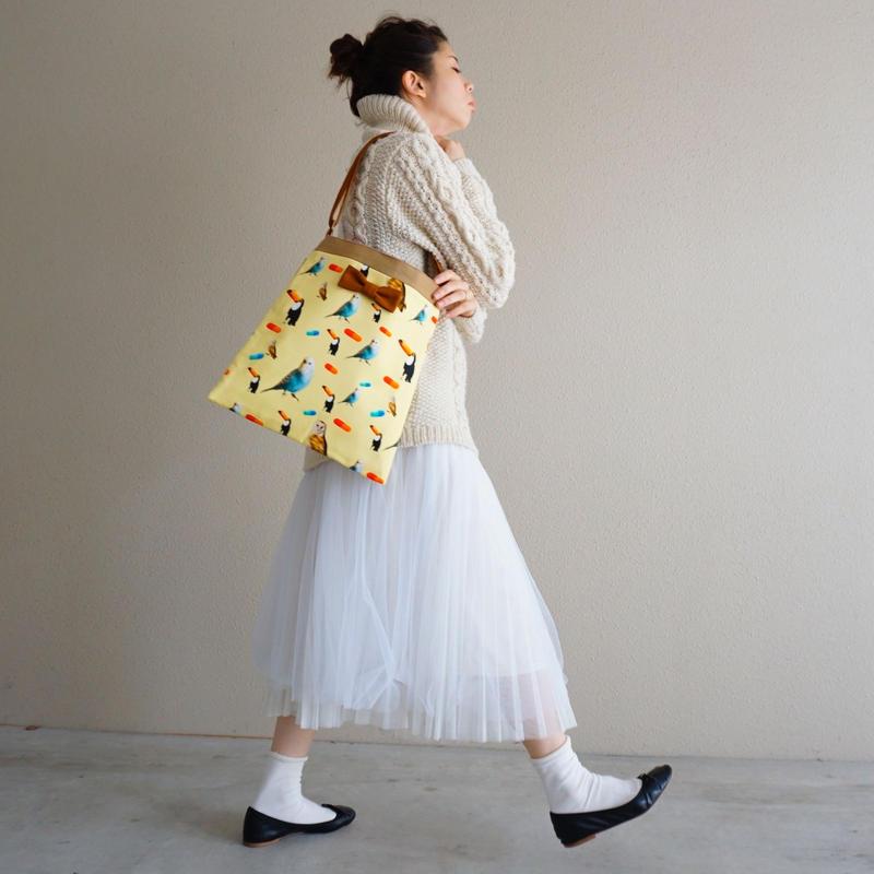 【original textile】skipton chemicalbirds yellow