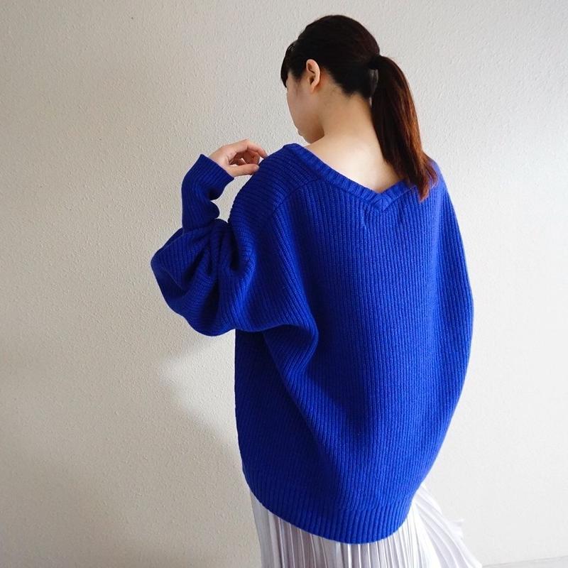 予約終了【先行予約】thomas magpie v neck knit (2193710)