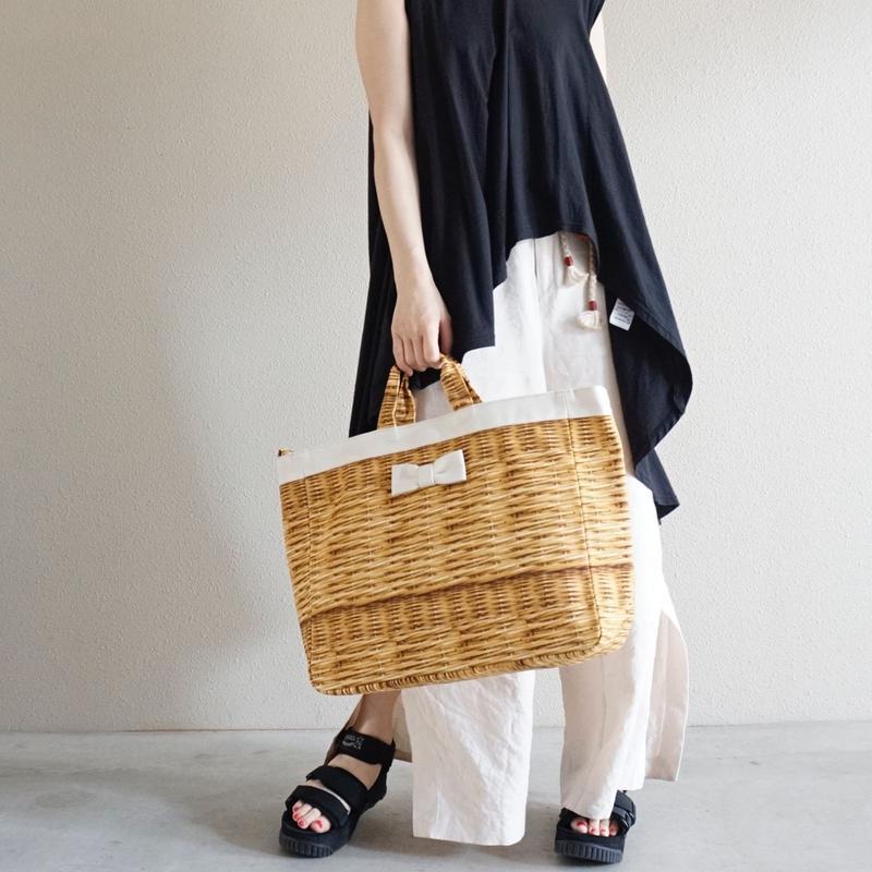 【新作】adjust tote strap fake basket milk
