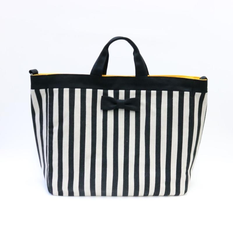 adjust tote strap stripes black